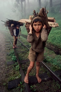 00544_05. Bangladesh, 1983, BANGLADESH-10014. Young boys carry wood.  Retouched_Ashley Crabill 05/28/2013