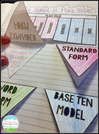 Place value Foldables2